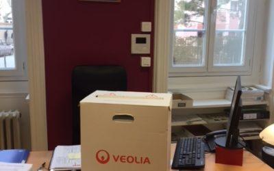 Recyclage en partenariat avec Veolia. Collège Mère Teresa, Villeurbanne.